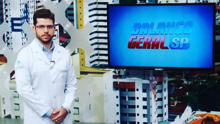 """Dr. Luiz Fernando Lourençone no quadro """"Mais Saúde"""" do Balanço Geral"""