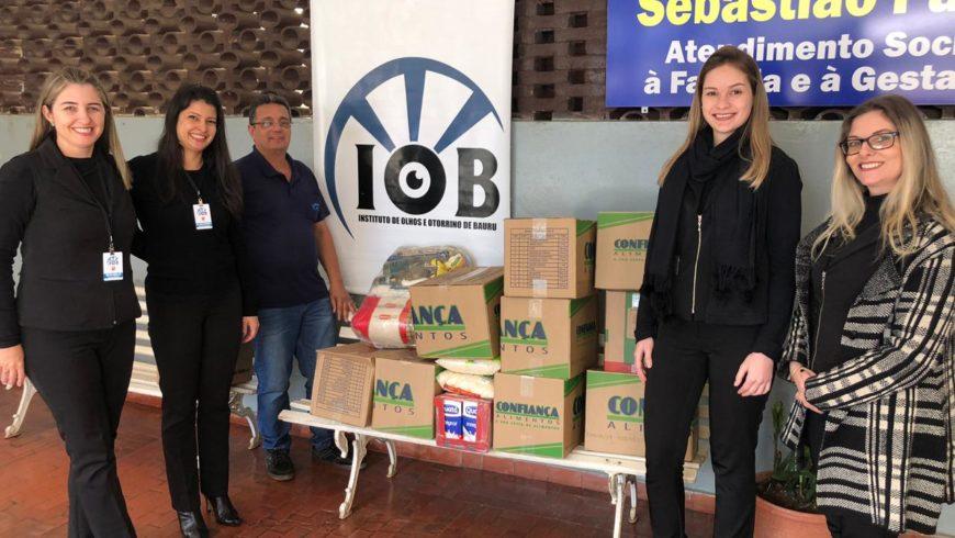 IOB faz entrega de alimentos a entidades assistenciais de Bauru